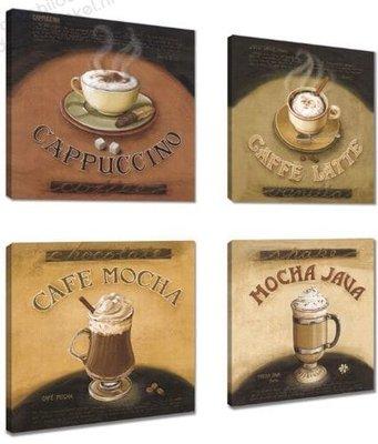 Schilderij Koffie Roast (4st 20x20cm)