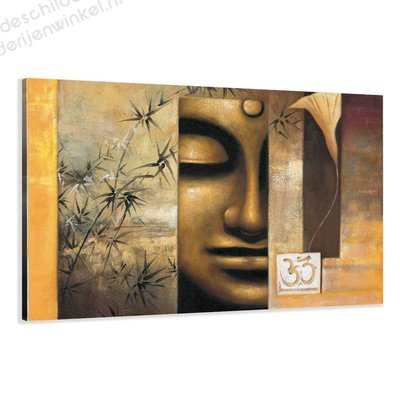 Schilderij Happy Boedhha XL (120x80cm)