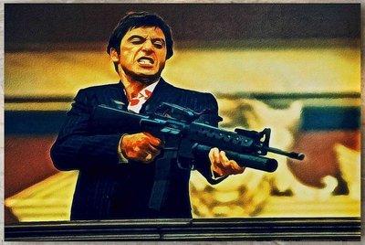 Scarface Tony Montana XL Schilderij vanaf €55