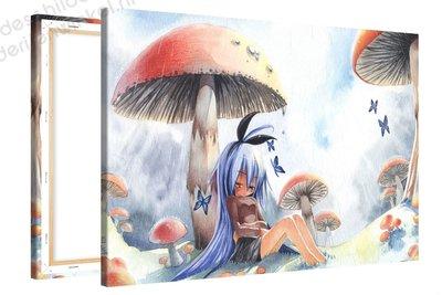 Schilderij Paddestoel Meid Anime XL (120x80cm)