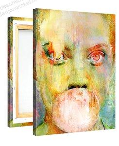 Schilderij Kauwgombel (75x100cm)