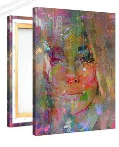 Schilderij Attente Meid (75x100cm)