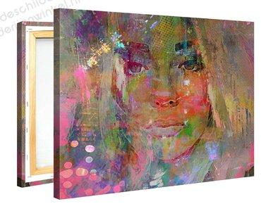 Schilderij Attente Meid (100x75cm)