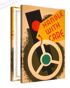 Schilderij Handle With Care XL (80x120cm)
