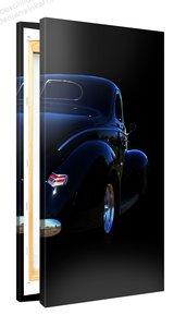 Schilderij Hot Rod Blue (50x100cm) [Premium Collectie]