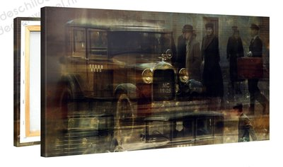 Schilderij Ford Oldtimer (100x50cm)