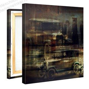 Schilderij Ford Oldtimer (80x80cm)