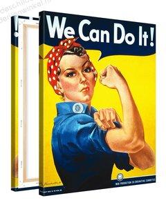 Schilderij We Can Do It! (75x100cm)