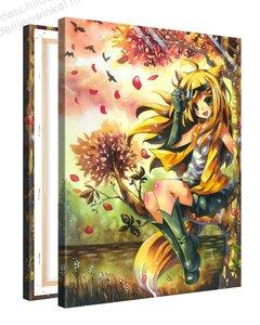 Schilderij Epische Vos Anime (75x100cm)