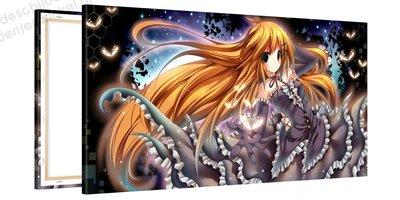 Schilderij Vuurvlieg Prinses Anime (100x50cm)
