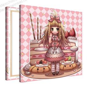 Schilderij Mimi Gebak Kraam Anime (80x80cm)