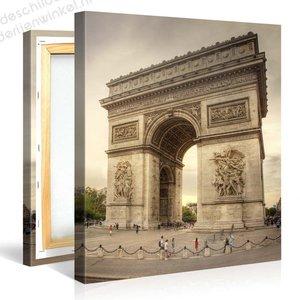 Schilderij Arc De Triomphe,Parijs (80x80cm)