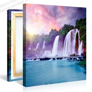 Schilderij Banyue Waterval Thailand (80x80cm)