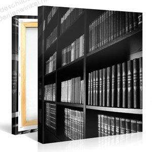 Schilderij Boekenkast (80x80cm)