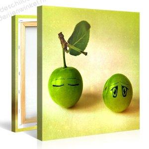 Schilderij Fruit Emotie (80x80cm)