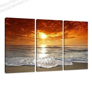 Schilderij Beach XXL 3-delig (160x90cm)