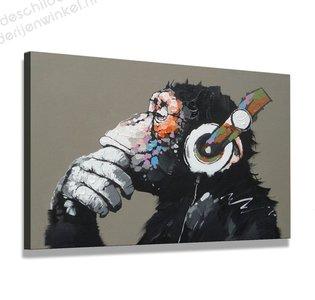 Schilderij Aap (80x60cm)