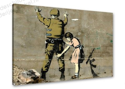 Schilderij Soldier and Girl [BANKSY Graffiti Art] (80x60cm)
