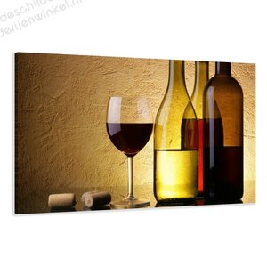 Schilderij Wijn XL (120x80cm)