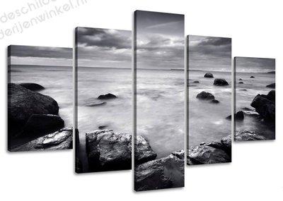 Schilderij Rocks XXL 5-delig (160x80cm)