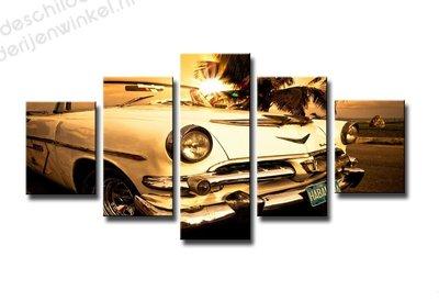 Schilderij Havana Auto XXL 5-delig (160x80cm)