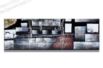 Schilderij Glamour Zilver (120x40cm)