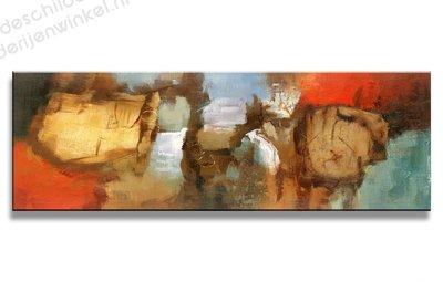 Schilderij Ephemeral Abstract (120x40cm)