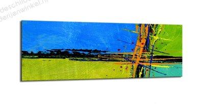 Schilderij Handgeschilderd Effect 4-delig (120x40cm)