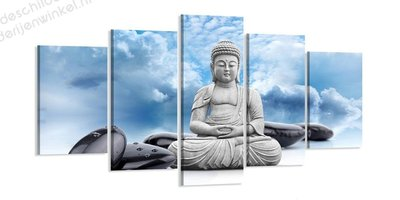 Schilderij Boeddha Udeni XXL 5-delig (200x100cm)