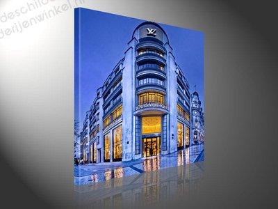 Schilderij Louis Vuitton Store Paris (80x80cm)