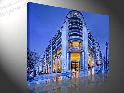 Schilderij Louis Vuitton Store Paris (100x75cm)